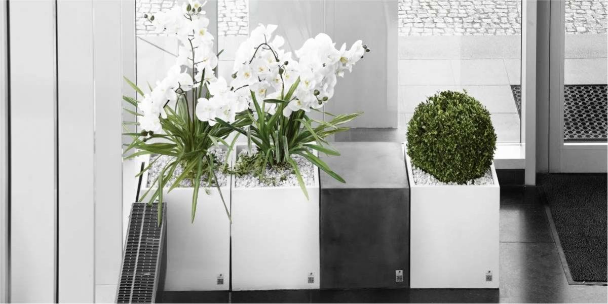 Regular Planter white natural