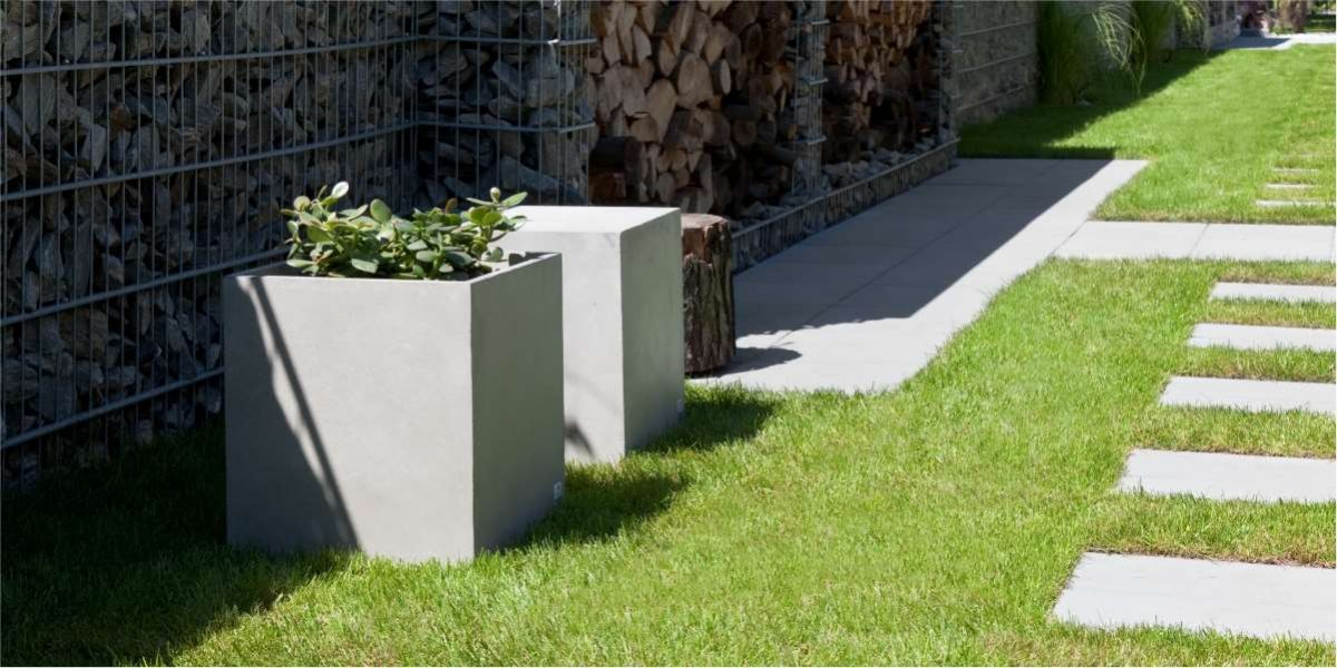Regular Planter concrete natural