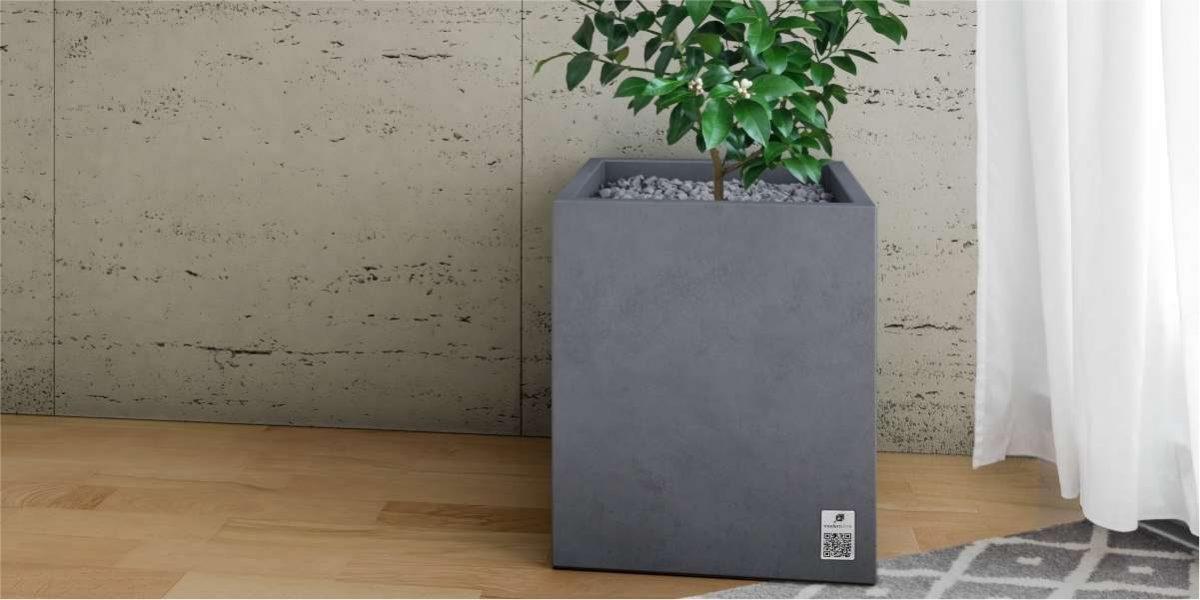 Regular Planter steel natural