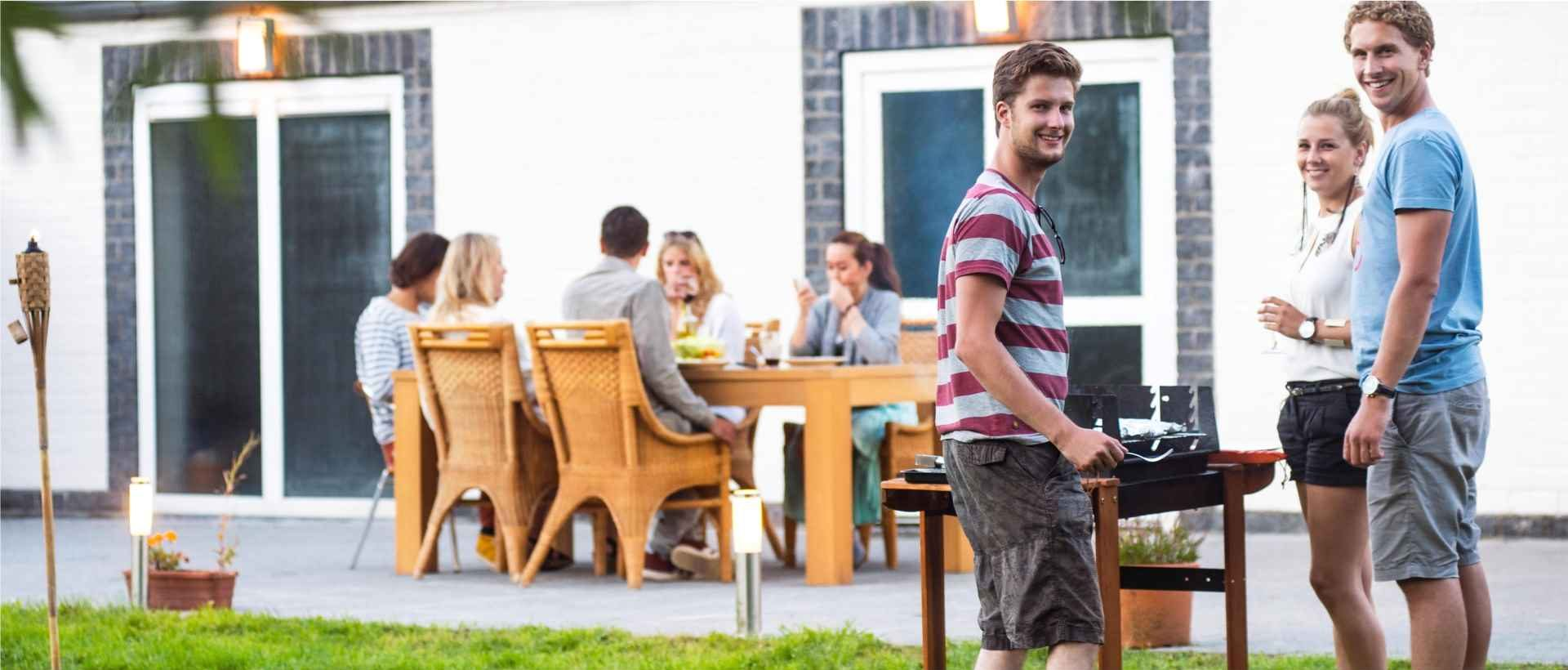 The terrace is a perfect place for parties with family and friends.