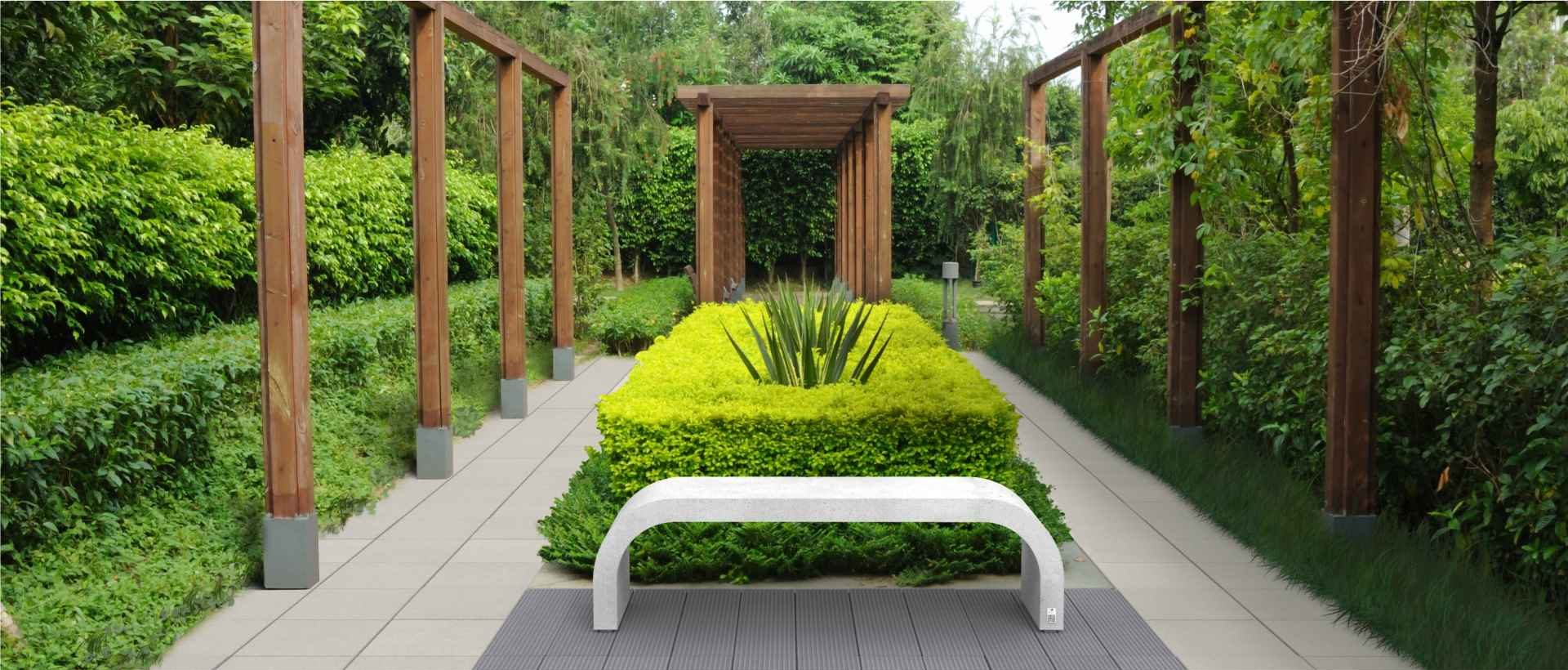 Bench Harmony, Style and Cube slabs, Modern Line
