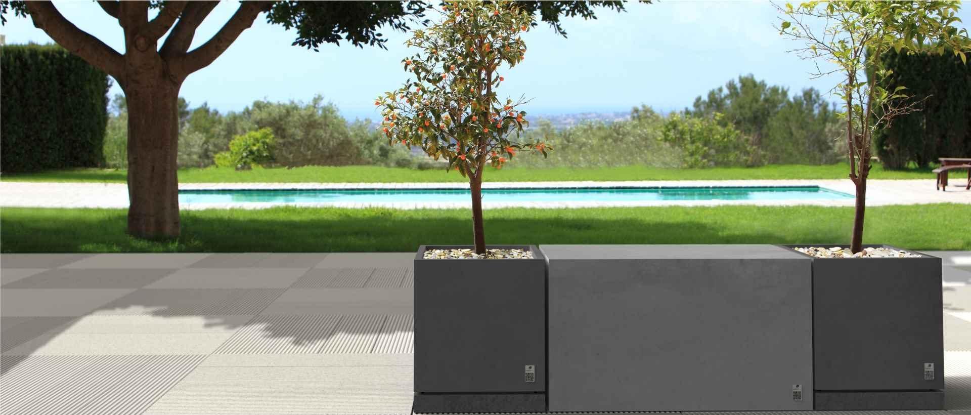 Style slabs, Regular Box and Regular planter, Modern Line